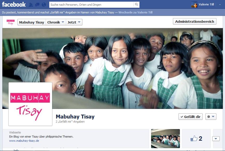 Mabuhay Tisay - jetzt auch auf Facebook