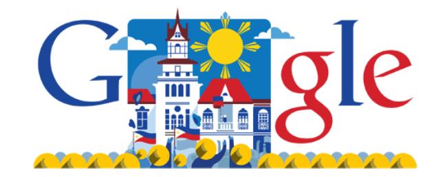 """Google Doodle zum philippinischen Unabhängigkeitstag (c) <a href=""""http://www.google.com.ph/"""" target=""""_blank"""">Google.com.ph</a>"""