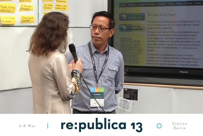Filipino Jay Fajardo auf der re:publica 13 in Berlin (c) V. Till