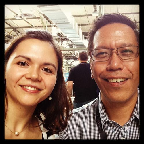 Filipinos unter sich: Jay Fajardo und ich auf der re:publica 13 (c) V. Till