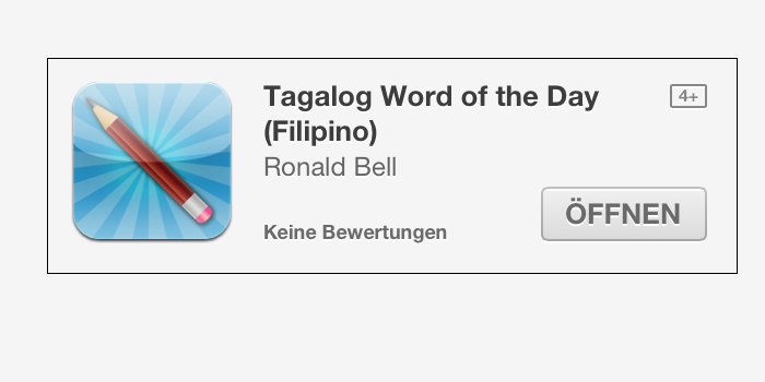 "App ""Tagalog Word of the Day (Filipino)"" (c) Apple"
