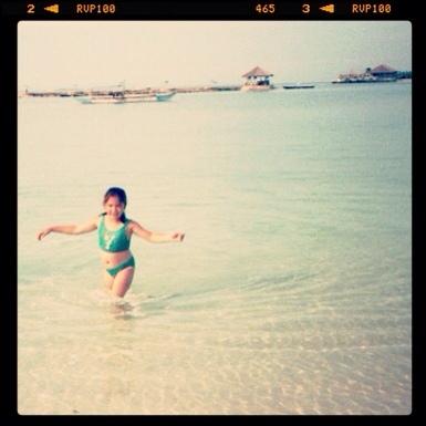 Strand und Meer faszinierten mich als Kind an Cebu am meisten (c) privat/H. Till