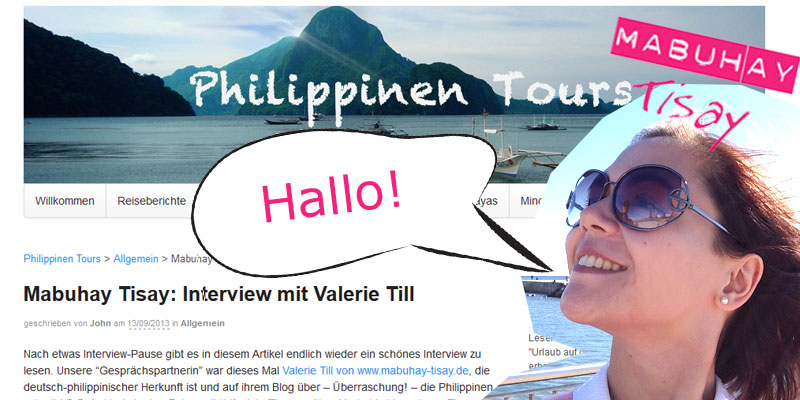 Mein Interview auf Philippinen Tours (c) Collage: Screenshot www.philippinen-tours.de; Foto privat