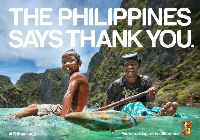 """Die Philippinen sagen Danke(c) <a href=""""http://itsmorefuninthephilippines.com/phthankyou/"""">www.itsmorefuninthephilippines.com/phthankyou/</a>"""