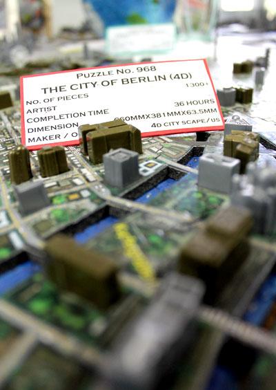 """Ein 4D-Puzzle von Berlin ist in der """"Puzzle Mansion"""" ebenfalls zu finden © V. Till"""