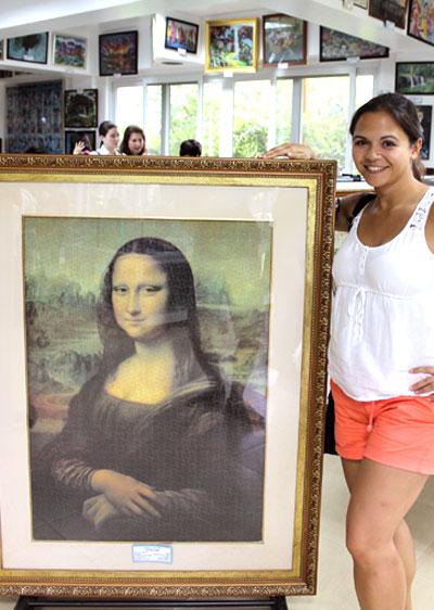 """So nah wie in der """"Puzzle Mansion"""" kommt man der Mona Lisa im Pariser Louvre sicher nicht © V. Till"""