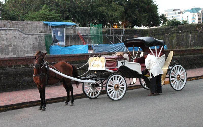 Die berühmten Pferdekutschen von Intramuros © Valerie Till