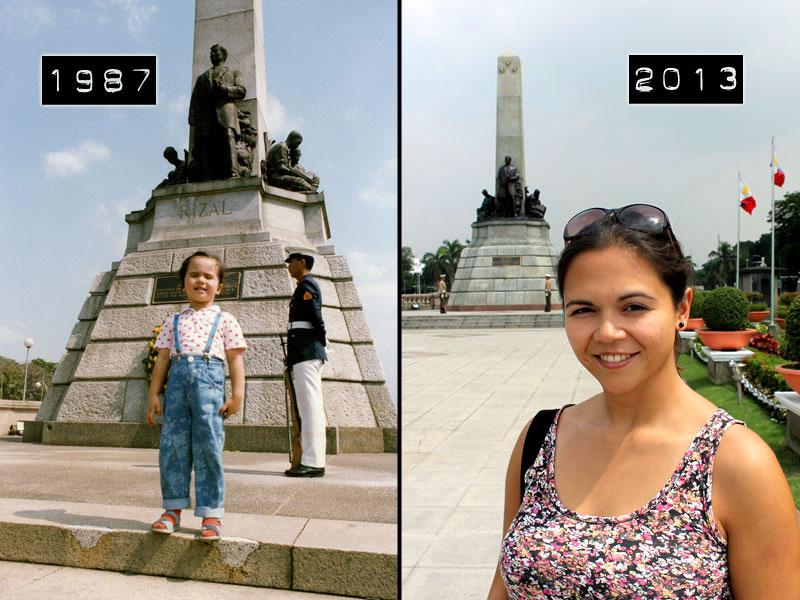 26 Jahre später: Besuch des Rizal Parks in Manila (1987, 2013) © Valerie Till