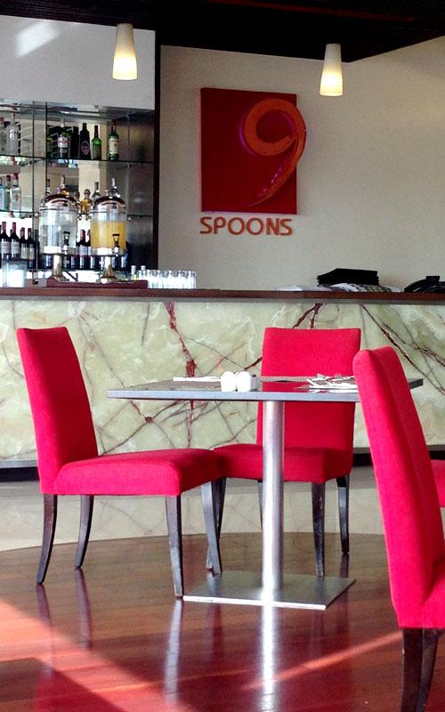 "Das Restaurant ""9 Spoons"" im Hotel ""The Bayleaf"" © Valerie Till"