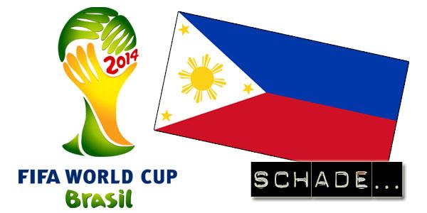 Die WM 2014 in Brasilien findet ohne die philippinische Nationalmannschaft statt