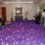 Die gepackten Taschen mit den Lebensmitteln für die Taifun-Opfer © Marilou Misagal-Bosshammer