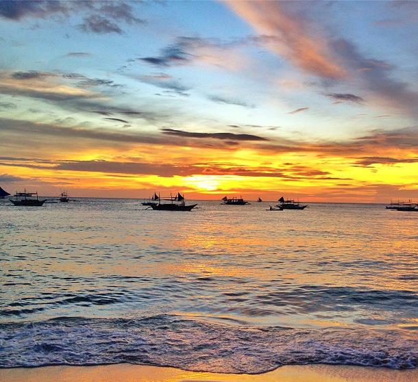 Sonnenuntergang in Boracay