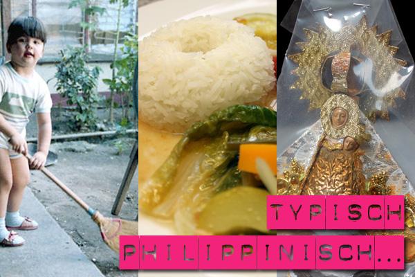 Typisch philippinisch: Bambus-Besen, Reis und Santo Niño