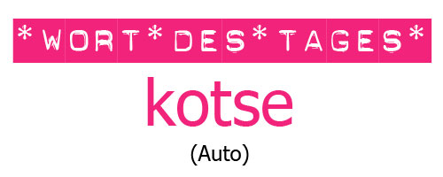 "Tagalog lernen mit ""Mabuhay Tisay"": das Wort des Tages ist heute ""kotse"" (Auto) © Valerie Till"