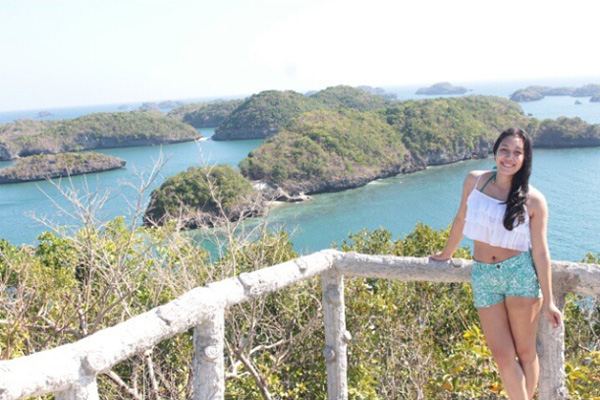 Evelyn besuchte auf den Philippinen die Hundred Islands.