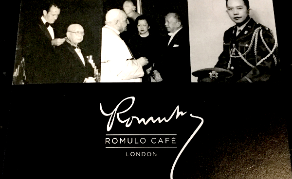 Das Romula Café - ein philippinisches Restaurant in London.