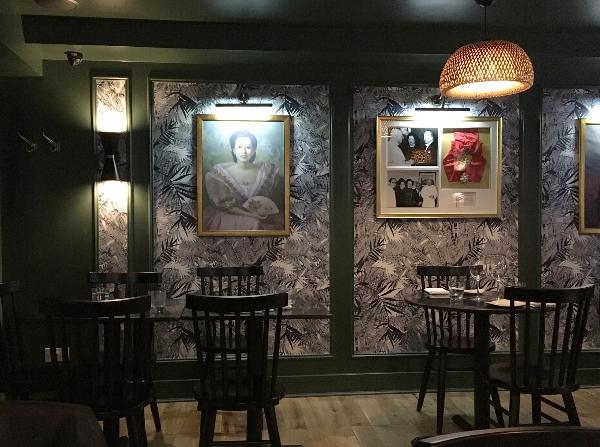 """Modernes und sehr schickes Ambiente im """"Romulo Café"""" in London."""