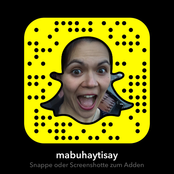 """Der Snapchat-Code, um Valerie von """"Mabuhay Tisay"""" zu folgen."""