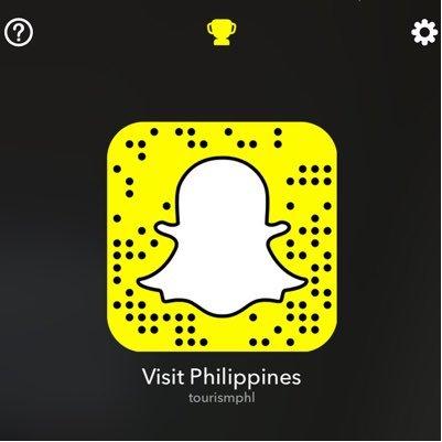 Der Snapchat-Code vom Philippine Department of Tourism. © www.twitter.com/TourismPHL/