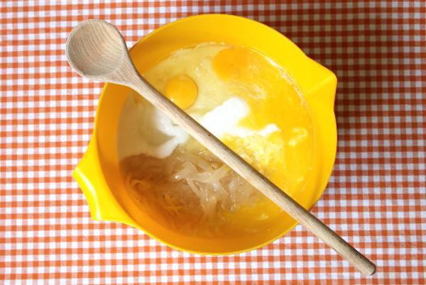 Cassava Cake: Zutaten für den Teig.
